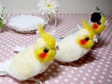 羊毛フェルトの小鳥